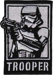 Star Wars / Clone Wars Lucas Movie Novelty Iron On Patch - Imperial Storm Trooper Holding Pistol Applique