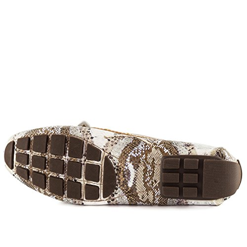Marc Joseph New York Womens Cipresso Collina Mocassino Multi Tan Serpente