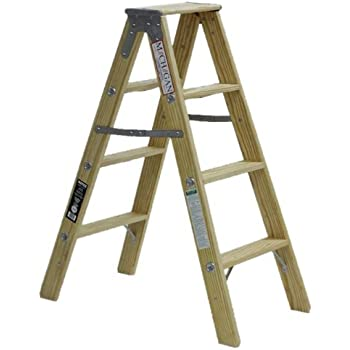 5 Ft Wood Step Ladder With 200 Lb Load Capacity Step