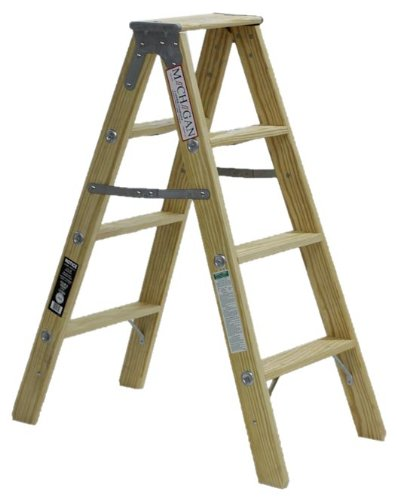 Michigan Ladder 1370 04 300 Pound Duty Rating Type 1a Tradesman Wood Double Front Stepladder 4 Foot