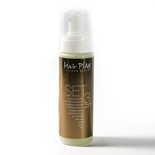 Hair Play SET 3 Extra Hold Hair Styling Foam, Hair Setting Lotion/Mousse for Coarse, Dense, Frizzy, and Unruly, Curly Hair (8 oz)