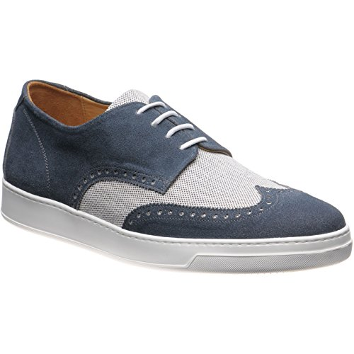 Herring Herring Denton, Scarpe stringate uomo Denim Suede and Canvas