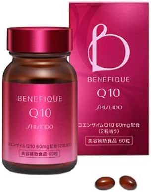 Shiseido Benefique Q10 60 tablets   Coenzyme Q10, Sesame, Collagen, Hyaluronan etc (Japan Import)