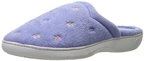 Isotoner Women's Classic Terry Clog Slippers Slip on, Periwinkle, Large / 8.5-9 US (List Brands Sofa)