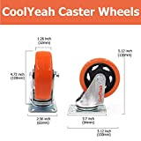CoolYeah 4 inch Swivel Plate PVC Caster