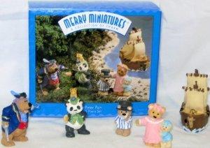 Hallmark 1997 Merry Miniatures Peter Pan Set of 5 Bear Figures