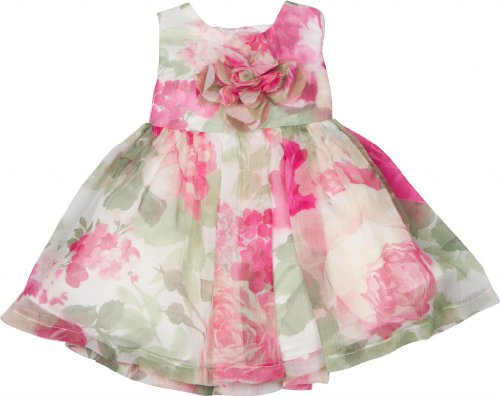 David Charles Of London Classic Print Party Dress 9 MO Pink/Green -