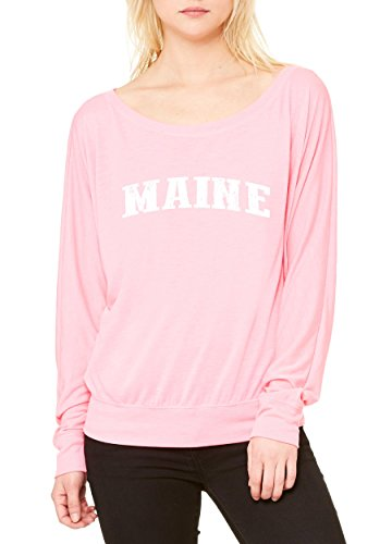 Maine T-Shirt Me Home University Of Maine Black Bears Womens Long Sleeve Shirts - Maine Portland Singles In