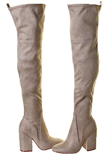 Kendall + Kylie Bali Womens Faux Suede Heel Boots Light Natural Fabric zeyhYxpUvb