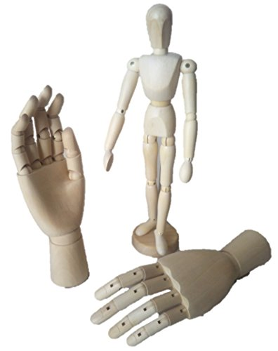[해외]무료 움직이는 타입 우드 데사 NG 인형 모델 핸드 (데사 NG 인형 (30cm) 모델 핸드 (좌우 세트) 우드 세트)/Free Movable Type Wood Dessa NG Doll Model Hand (Dessa NG Doll(30cm) Model Hand(Left And Right) Set Wood)