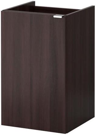 Ikea Lillangen Lave Mains Meuble Avec 1 Porte Black Brown