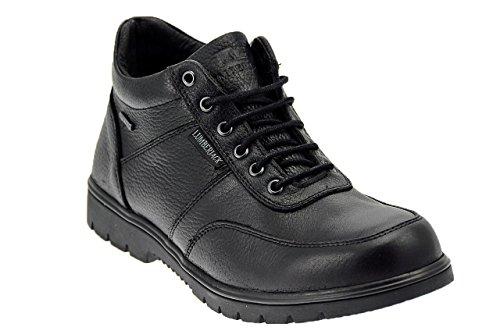 Lumberjack Zapatillas de Piel Para Hombre Negro Negro