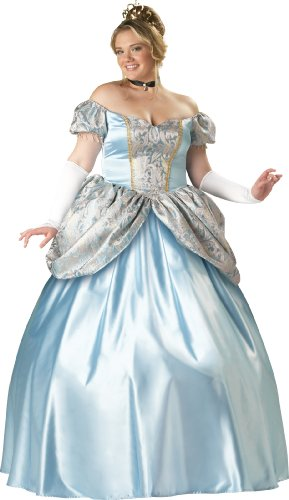 [InCharacter Costumes Women's Enchanting Princess Plus Size Costume, Blue, XX-Large] (90's Tv Characters Costumes)