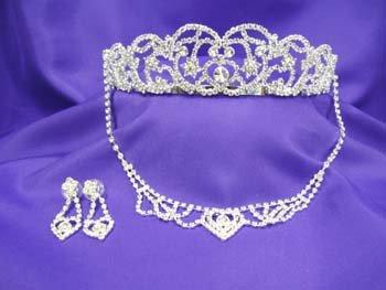 Princess Diana Spencer Tiara Necklace Set