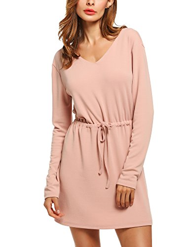 Drawstring Halter Dress - 7