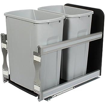 knape u0026 vogt usc15235pt incabinet soft close pull out trash