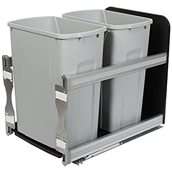 Image of Knape & Vogt USC15-2-35PT in-Cabinet Soft Close Pull Out Trash Can, 19.19 by 14.81 by 22.44-Inch Home Improvements