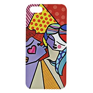 Cartoon Woman Pattern Hard Case for iPhone 5/5S