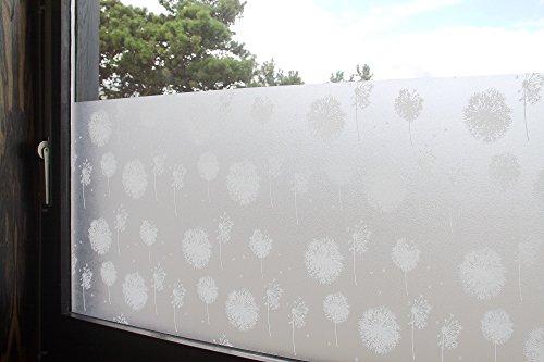 Tamia-Home Statische Fensterfolie 90% UV-Sonnenschutz Selbsthaftende Sichtschutzfolie Glasdekor