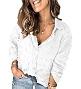 Happy Sailed Womens Plus Size V Neck Lace Crochet Tops Casual Loose Short Sleeve Flowy Tunic Blou...