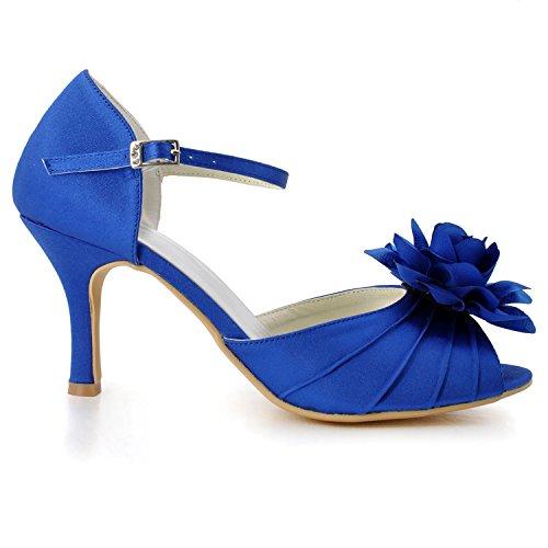 Kevin Fashion ,  Damen Modische Hochzeitsschuhe , Blau - Azul - Style1-Blue - Größe: 43