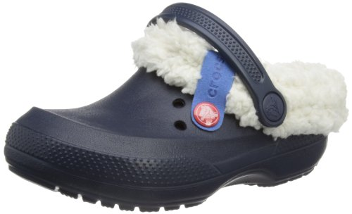 crocs 14462 Blitzen II Lined Clog ,Navy/Oatmeal,C8/9 Toddler