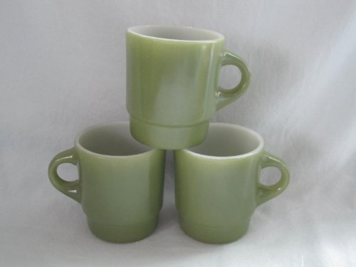 Fire King Stackable Mug - Set of 3 - Vintage Anchor Hocking Fire-King