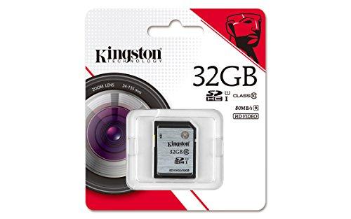 Kingston SD10VG2/32GB - Tarjeta SD UHS-I SDHC/SDXC (Clase 10-32GB)