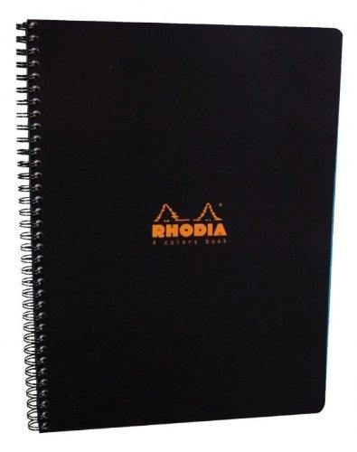 Rhodia Wire - Rhodia 4 Color Wire Bound Book in Black 22.5X29.7 cm ,80 g