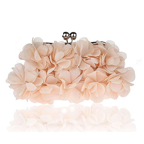 Silk Tarde Embragues Bolsa rabbit Lovely Mujeres Cosmticos Evening Lady de Handbags Flower Banquete Apricot Ug0wnwqC