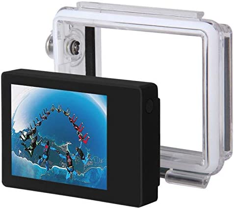 Black Durable CAOMING ST-175 2.0 Inch TFT LCD External Display and Waterproof Back Housing for GoPro HERO4 //3+