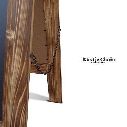 Rustic Vintage Torched Wooden A-Frame Chalkboard / Sidewalk ...