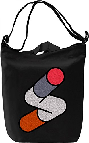 Abstract Geometry Borsa Giornaliera Canvas Canvas Day Bag| 100% Premium Cotton Canvas| DTG Printing|