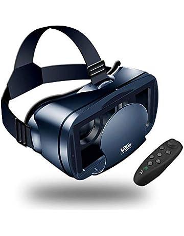 d8d1175cbb 【Nuevo】 Gafas VR de Realidad Virtual,3D VR Gafas con Remoto Controlador,
