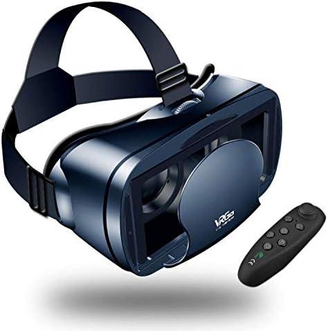 【Nuevo】 Gafas VR de Realidad Virtual,3D VR Gafas con Remoto Controlador, para Juegos Visión Panorámico Immersivo para iPhon X/7/ 7plus /6s 6/Plus, Galaxy s8/ s7 con Pantalla de 5,0 a 7,0 Pulgadas