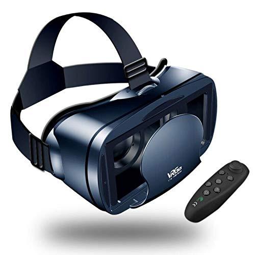 3d5de36a24 【Nuevo】 Gafas VR de Realidad Virtual,3D VR Gafas con Remoto Controlador,