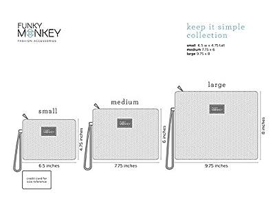 {Sophie Collection} FunkyMonkey Fashion Wristlet Wallet Clutch Phone Purse Handbag 3Sizes Brown/Tan Style