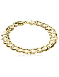 """10k Yellow Gold Cuban Bracelet, 8"""""""