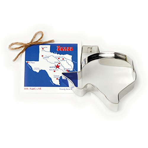 Texas Cookie and Fondant Cutter - Ann Clark - 4.8 Inches - US Tin Plated Steel