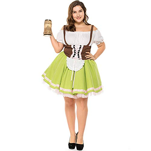 Women Plus Size German Beer Maid Traditional Costume Cosplay Carnival Costume Halloween -