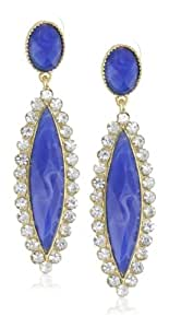 Leslie Danzis Marquis Crystals Drop Earrings