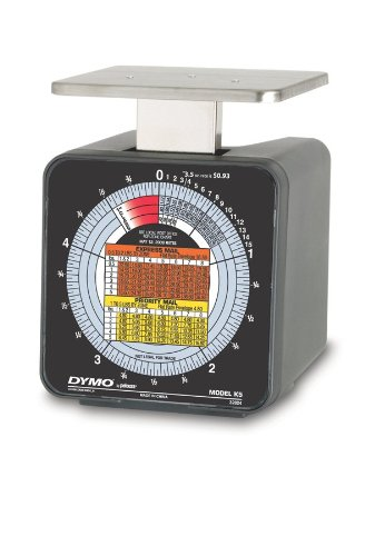 Dymo by Pelouze K5 5-lb.Capacity Radial Dial Mechanical Package Scale, 4-1/2 x 4 - Delivery Rates Usps
