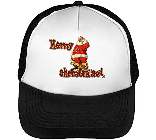 Graphic Beisbol Negro Christmas Blanco Gorras Snapback Merry Hombre Santa w0nOZqqEf