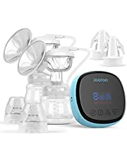 Double Electric Breast Pump - Portable Anti-Overflow, Ultra-Quiet and Pain Free Breast Pumps with 3 Modes & 9 Levels, Come with 2 Storage Bag Adapters, 10 Breastmilk Storage Bags, 24mm Flange