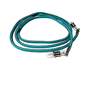ATLanyards Teal Blue Paracord Eyeglass Cord, Eyeglass Lanyard, Eyeglass Chain, Clear Grips, 350
