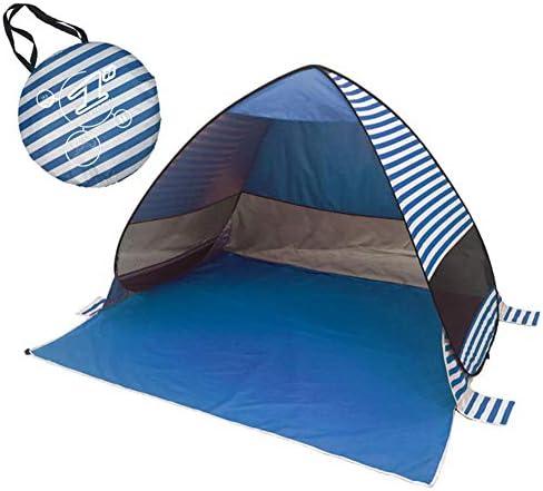 Sanmubo Trading Schnelles Pop-Up-Strandzelt Sun Shelter Beach Shade Tragbares Zelt mit UPF 50+ für Outdoor-Aktivitäten Strandreisen, Ideal für 1-2 Personen, 79 x 47 x 51 Zoll