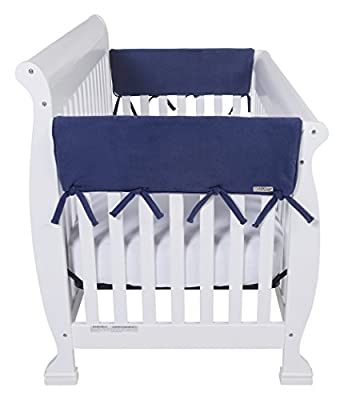 """Trend Lab Waterproof CribWrap Rail Cover - For Wide Side Crib Rails Made to Fit Rails up to 18"""" Around, 2PK"""