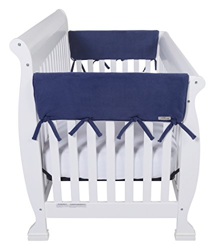 "Trend Lab Waterproof CribWrap Rail Cover - For Wide Side Crib Rails Made to Fit Rails up to 18"" Around"