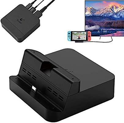 GeeekPi GuliKit NS05 Switch Dock Set, Base de TV portátil para Nintendo Switch con Soporte de Carga USB-C PD, Adaptador HDMI y Puerto USB 3.0, Compatible con Modo Samsung Dex/Modo PC Huawei: