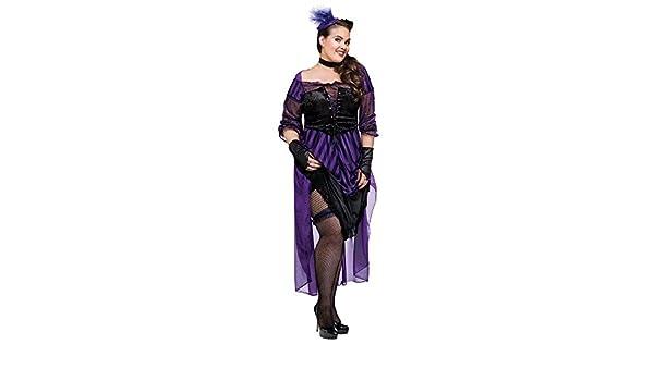 bd18b5f03f1 Amazon.com: Adult Size Saloon Girl Lady Maverick Costume Plus Size ...